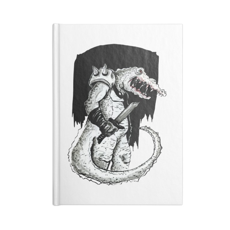 Croc Soldier Accessories Lined Journal Notebook by tjjudgeillustration's Artist Shop
