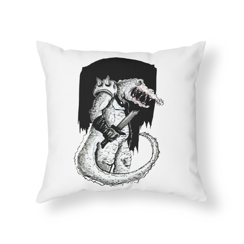 Croc Soldier Home Throw Pillow by tjjudgeillustration's Artist Shop