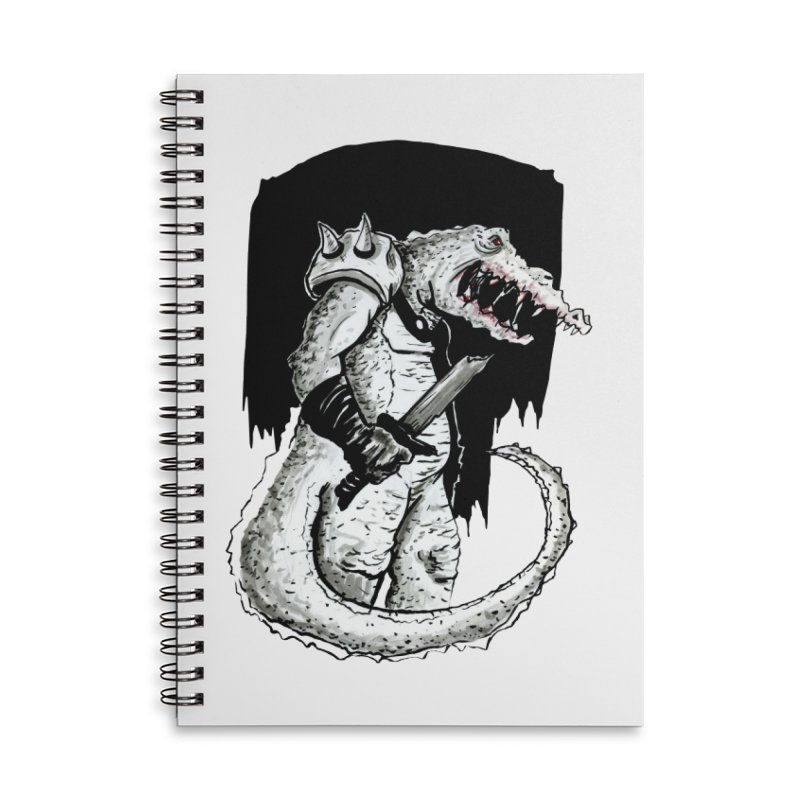 Croc Soldier Accessories Notebook by tjjudgeillustration's Artist Shop