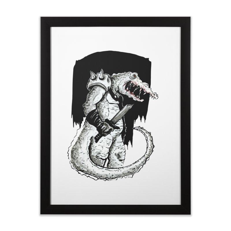 Croc Soldier Home Framed Fine Art Print by tjjudgeillustration's Artist Shop