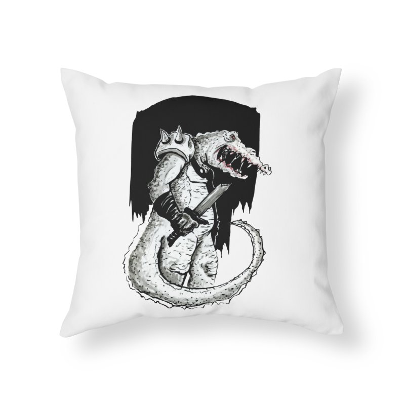 Croc Soldier Home Throw Pillow by tjjudgeillustration's Artist Shop