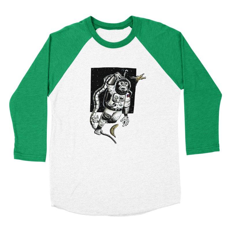 Space Chimp Men's Baseball Triblend Longsleeve T-Shirt by tjjudgeillustration's Artist Shop