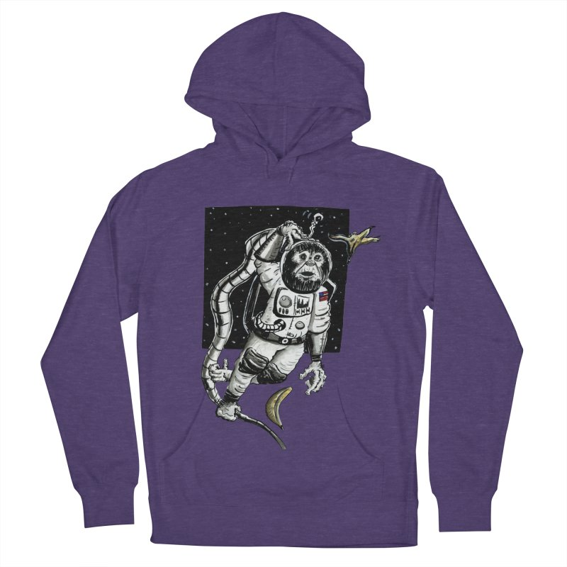 Space Chimp Women's French Terry Pullover Hoody by tjjudgeillustration's Artist Shop