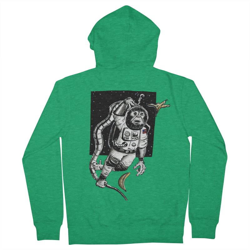 Space Chimp Women's Zip-Up Hoody by tjjudgeillustration's Artist Shop