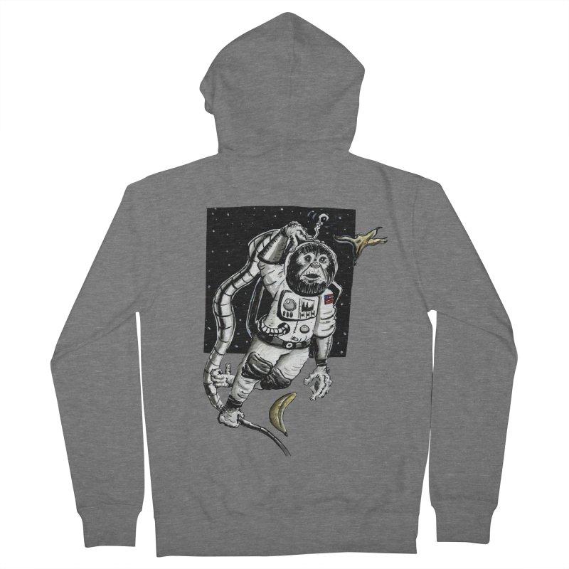Space Chimp Women's Zip-Up Hoody by tjjudgeillustration's Artist Shop