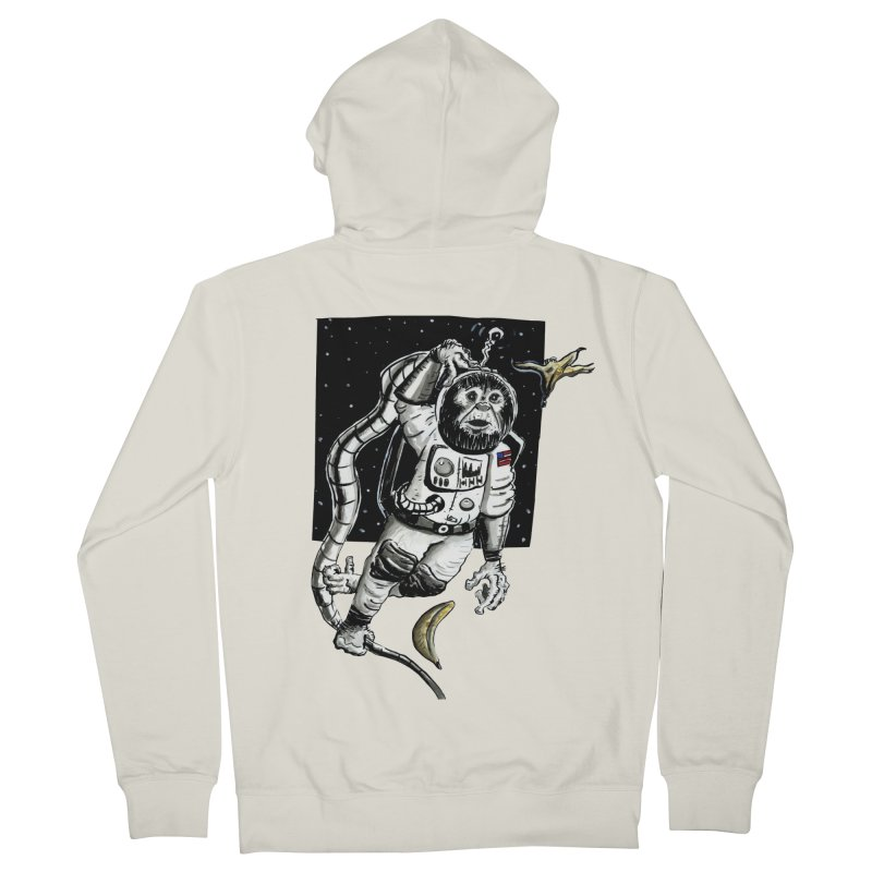 Space Chimp Women's French Terry Zip-Up Hoody by tjjudgeillustration's Artist Shop