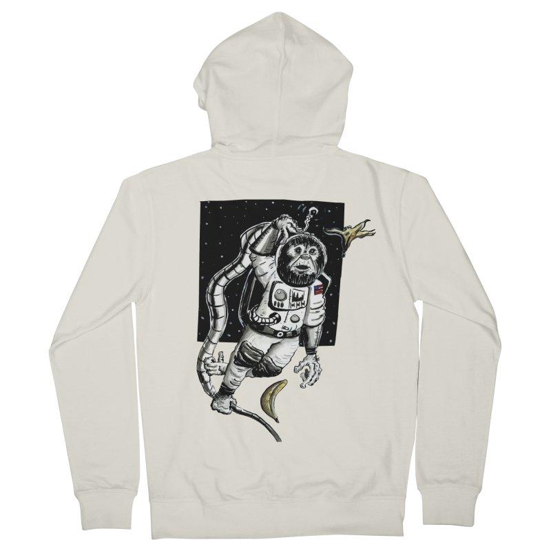 Space Chimp Men's Zip-Up Hoody by tjjudgeillustration's Artist Shop