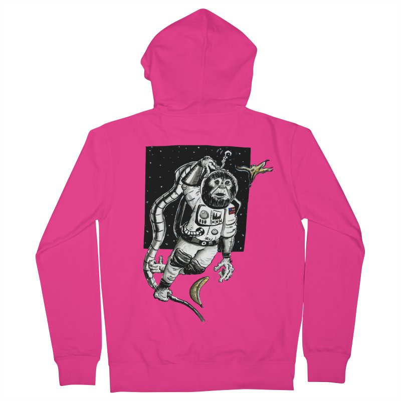 Space Chimp Men's French Terry Zip-Up Hoody by tjjudgeillustration's Artist Shop