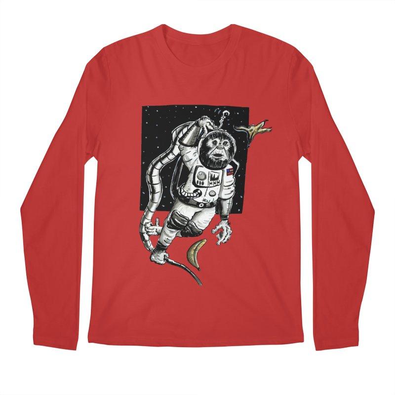 Space Chimp Men's Longsleeve T-Shirt by tjjudgeillustration's Artist Shop
