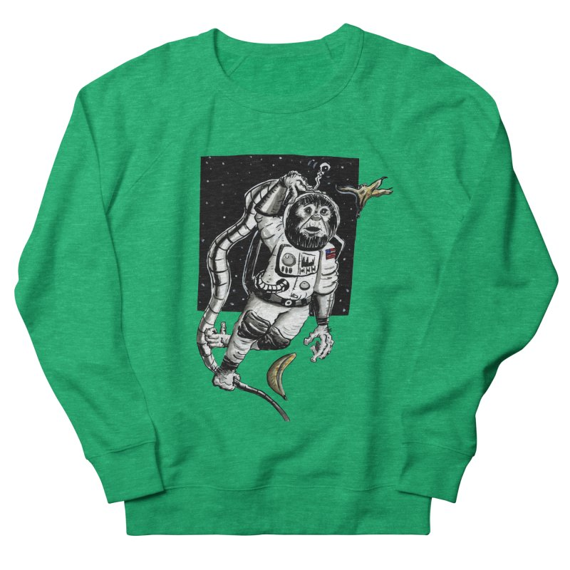 Space Chimp Women's Sweatshirt by tjjudgeillustration's Artist Shop