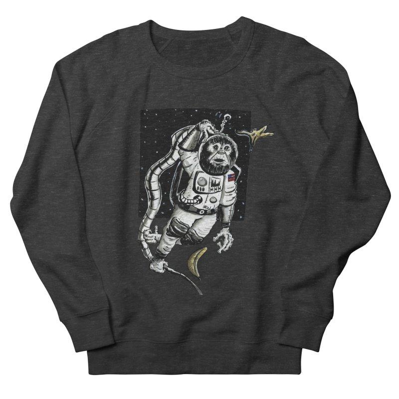 Space Chimp Men's Sweatshirt by tjjudgeillustration's Artist Shop