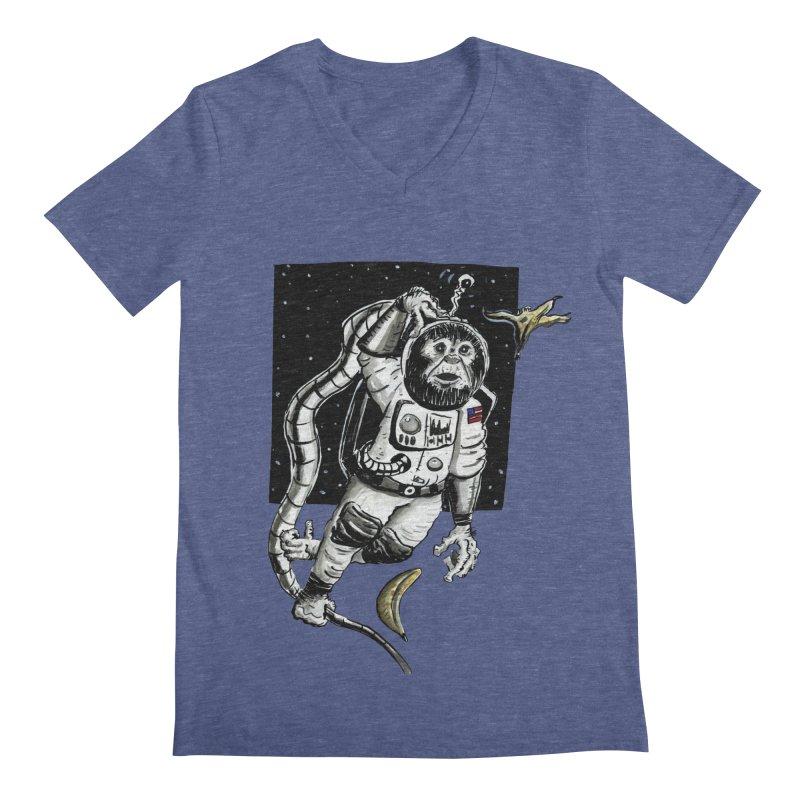 Space Chimp Men's V-Neck by tjjudgeillustration's Artist Shop