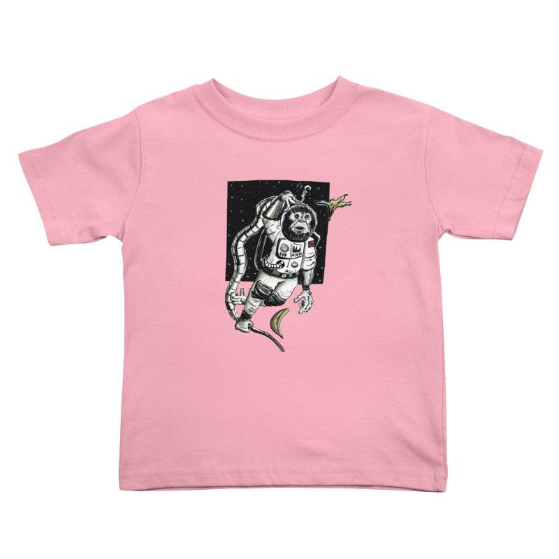 Space Chimp Kids Toddler T-Shirt by tjjudgeillustration's Artist Shop
