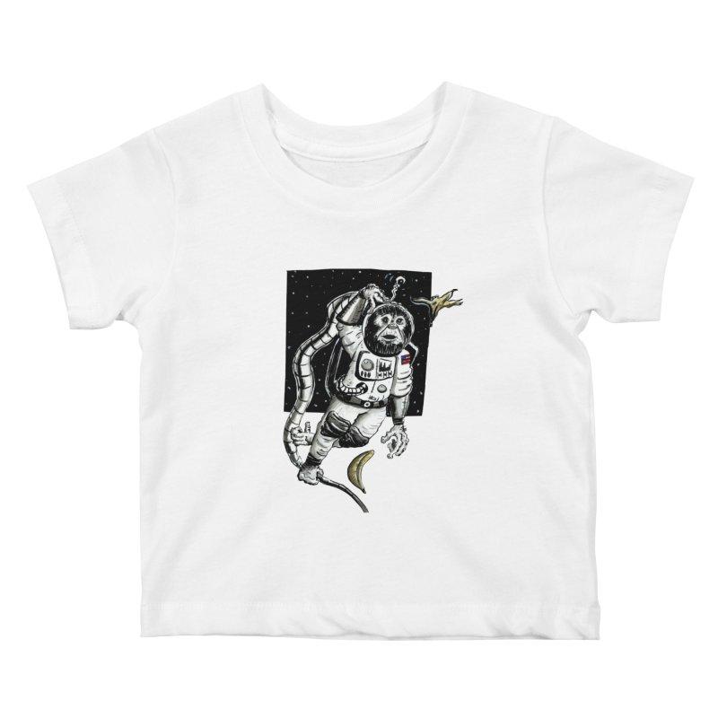 Space Chimp Kids Baby T-Shirt by tjjudgeillustration's Artist Shop