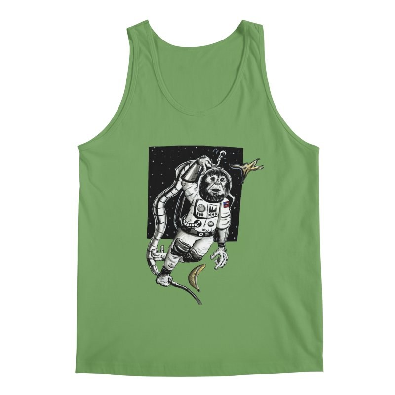 Space Chimp Men's Tank by tjjudgeillustration's Artist Shop