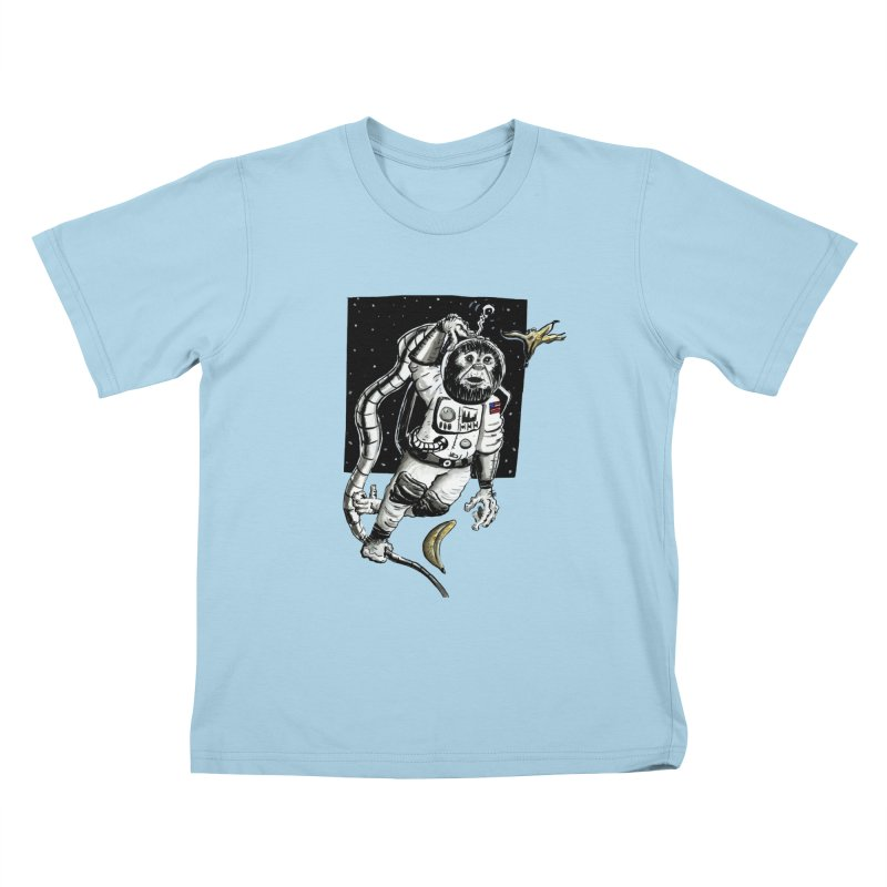 Space Chimp Kids T-Shirt by tjjudgeillustration's Artist Shop