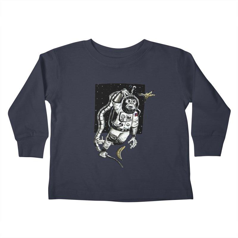 Space Chimp Kids Toddler Longsleeve T-Shirt by tjjudgeillustration's Artist Shop