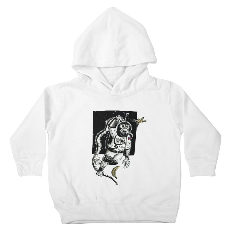Space Chimp Kids Toddler Pullover Hoody by tjjudgeillustration's Artist Shop