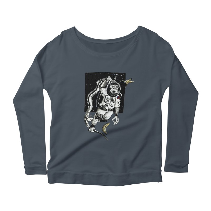 Space Chimp Women's Scoop Neck Longsleeve T-Shirt by tjjudgeillustration's Artist Shop