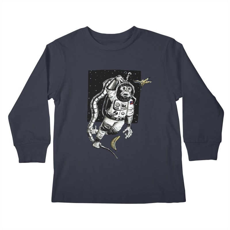 Space Chimp Kids Longsleeve T-Shirt by tjjudgeillustration's Artist Shop