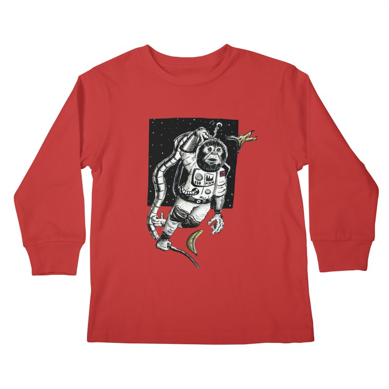 Space Chimp Kids Longsleeve T-Shirt by tjjudgeillustration's Artist Shop