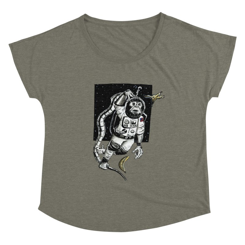 Space Chimp Women's Scoop Neck by tjjudgeillustration's Artist Shop