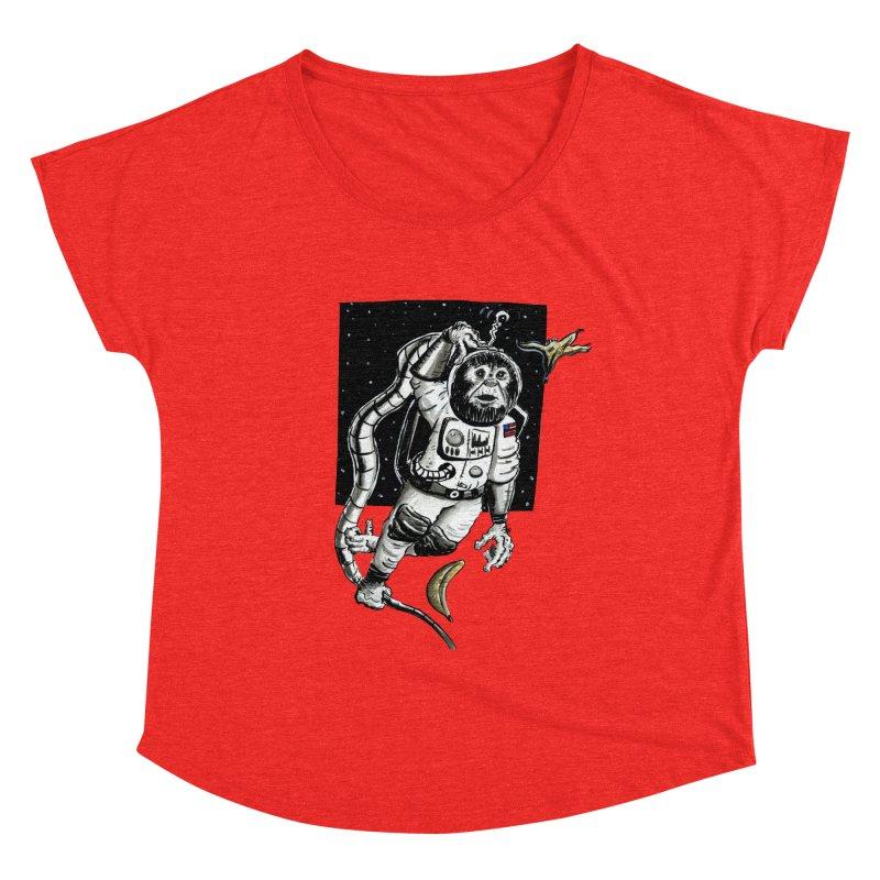 Space Chimp Women's Scoop Neck by tjjudgeillustration's Artist Shop