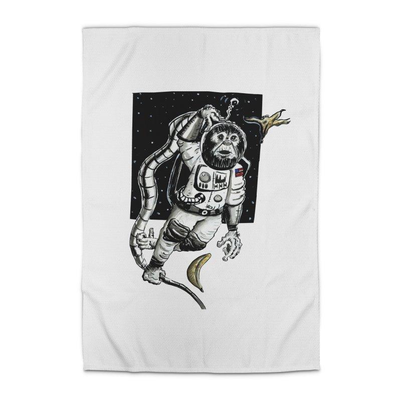 Space Chimp Home Rug by tjjudgeillustration's Artist Shop