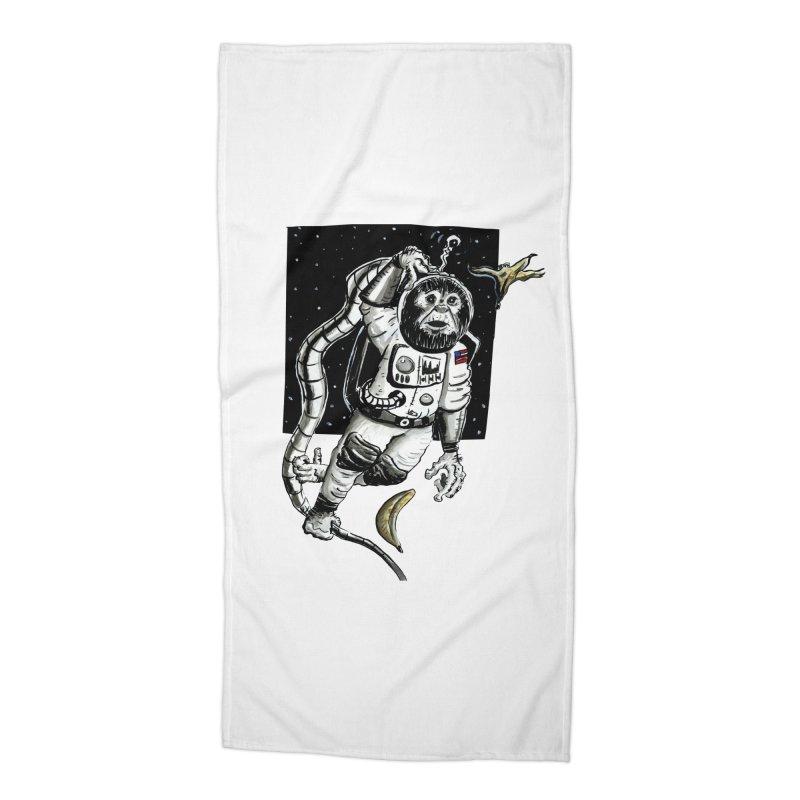 Space Chimp Accessories Beach Towel by tjjudgeillustration's Artist Shop