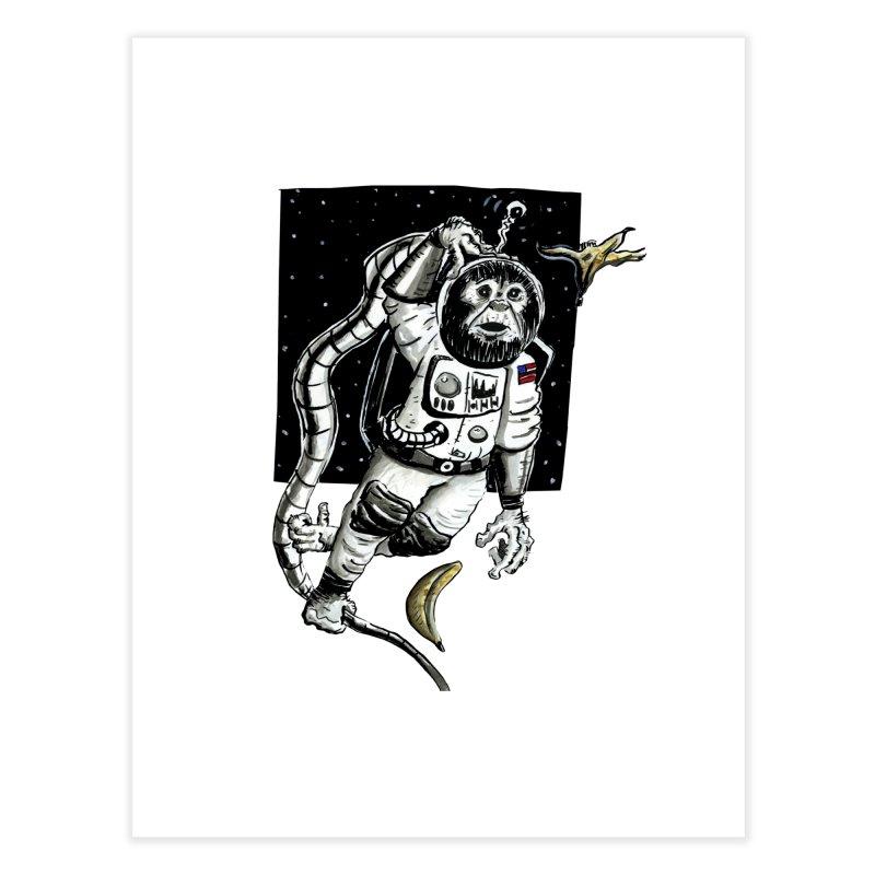 Space Chimp Home Fine Art Print by tjjudgeillustration's Artist Shop