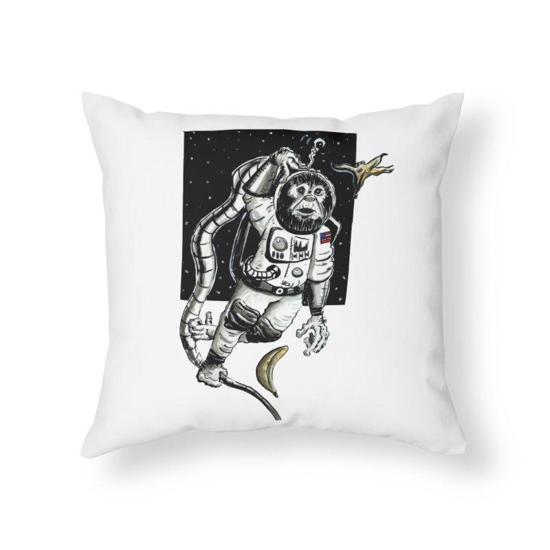 Space Chimp Home Throw Pillow by tjjudgeillustration's Artist Shop