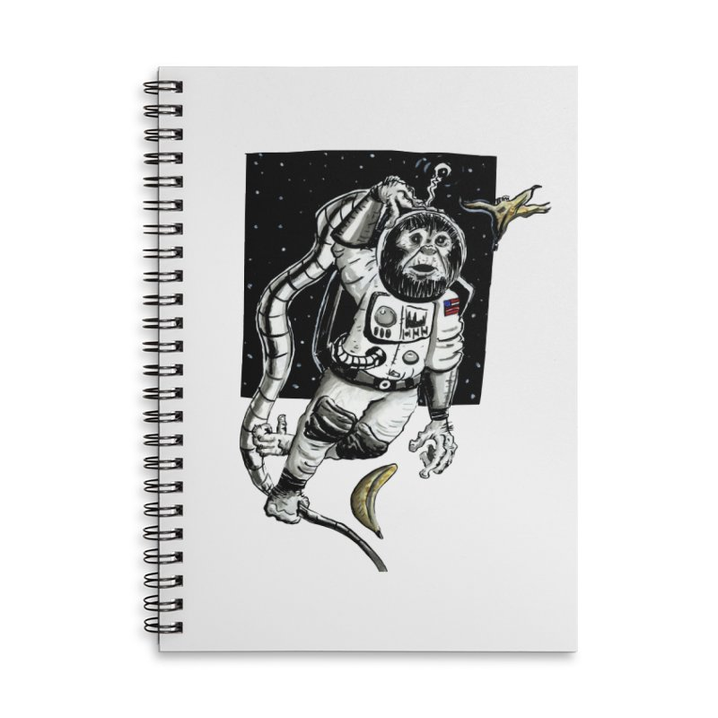 Space Chimp Accessories Notebook by tjjudgeillustration's Artist Shop