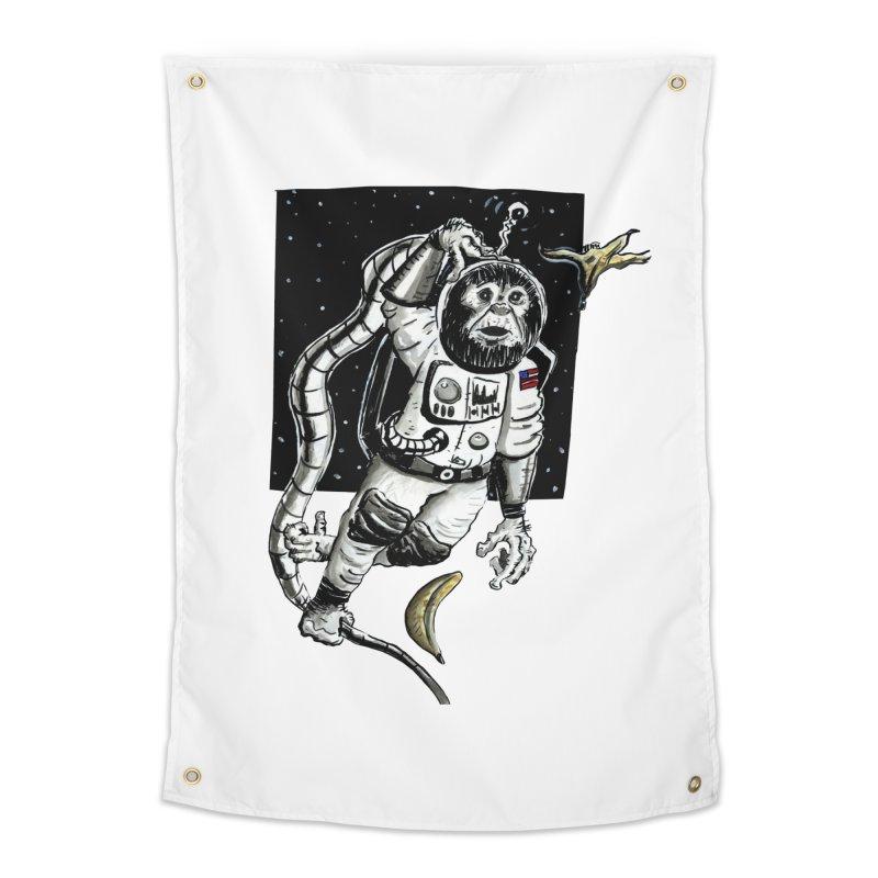 Space Chimp Home Tapestry by tjjudgeillustration's Artist Shop