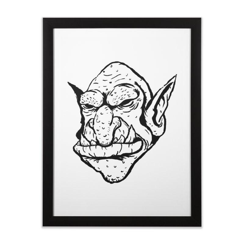 Goblin Home Framed Fine Art Print by tjjudgeillustration's Artist Shop