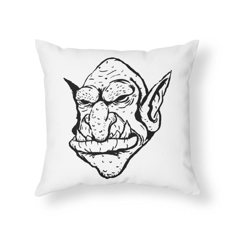 Goblin Home Throw Pillow by tjjudgeillustration's Artist Shop