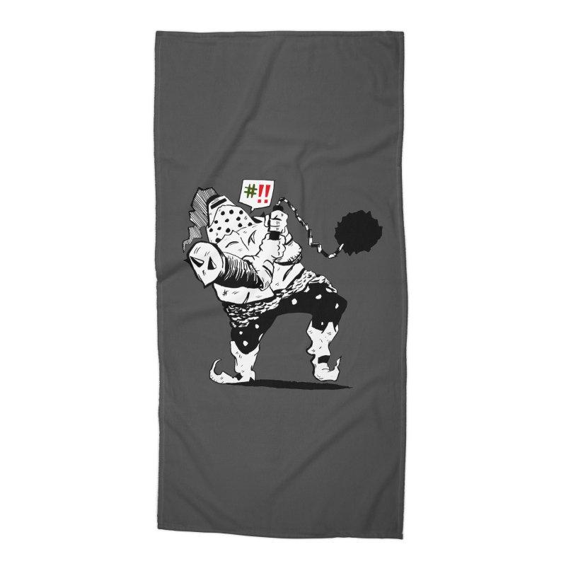 Warrior #!! Accessories Beach Towel by tjjudgeillustration's Artist Shop