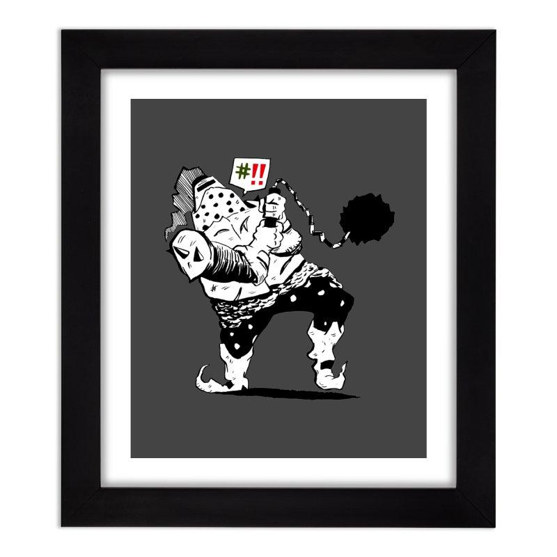 Warrior #!! Home Framed Fine Art Print by tjjudgeillustration's Artist Shop