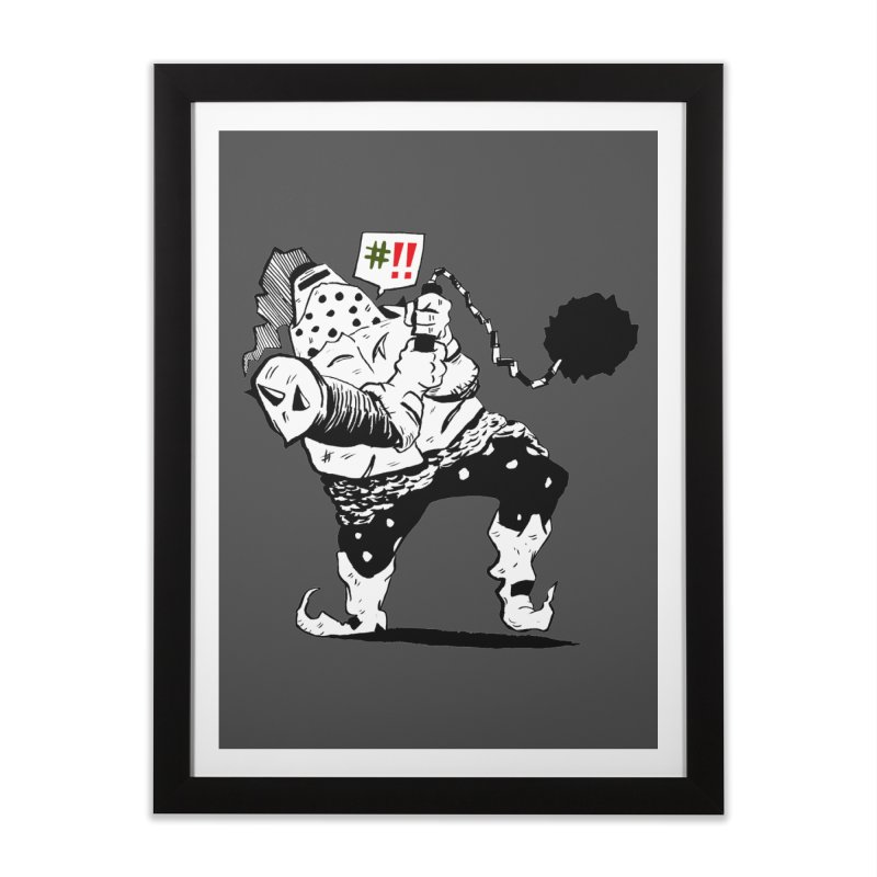 Warrior #!! Home Framed Fine Art Print by tjjudgeillustration's Artist Shop