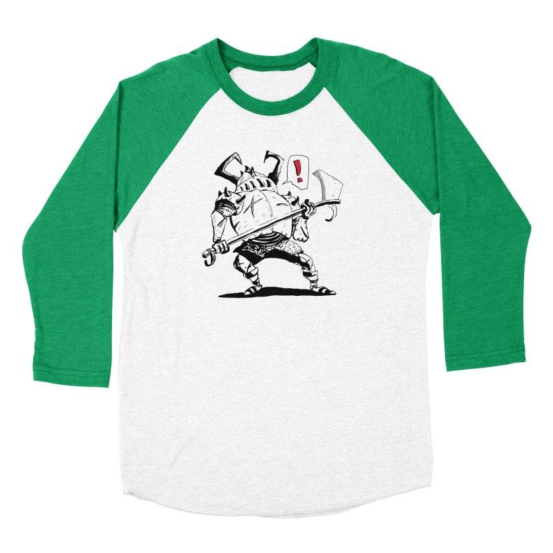 Warrior ! Men's Baseball Triblend Longsleeve T-Shirt by tjjudgeillustration's Artist Shop