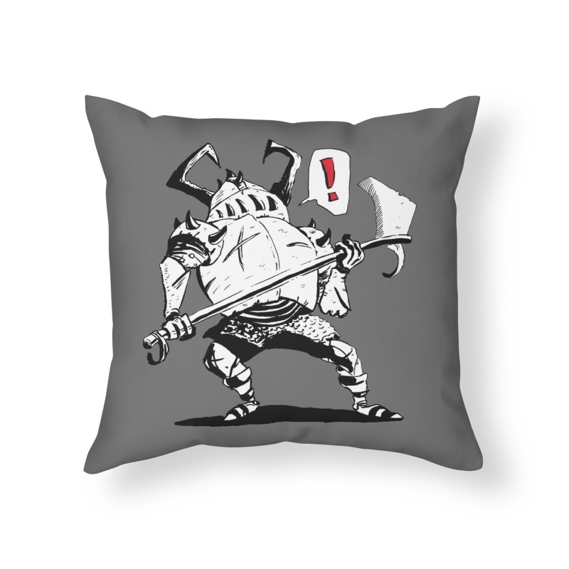 Warrior ! Home Throw Pillow by tjjudgeillustration's Artist Shop