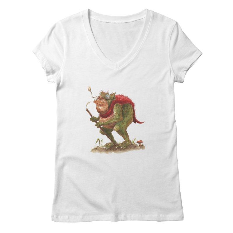 Goblin Rat Women's V-Neck by tjjudgeillustration's Artist Shop