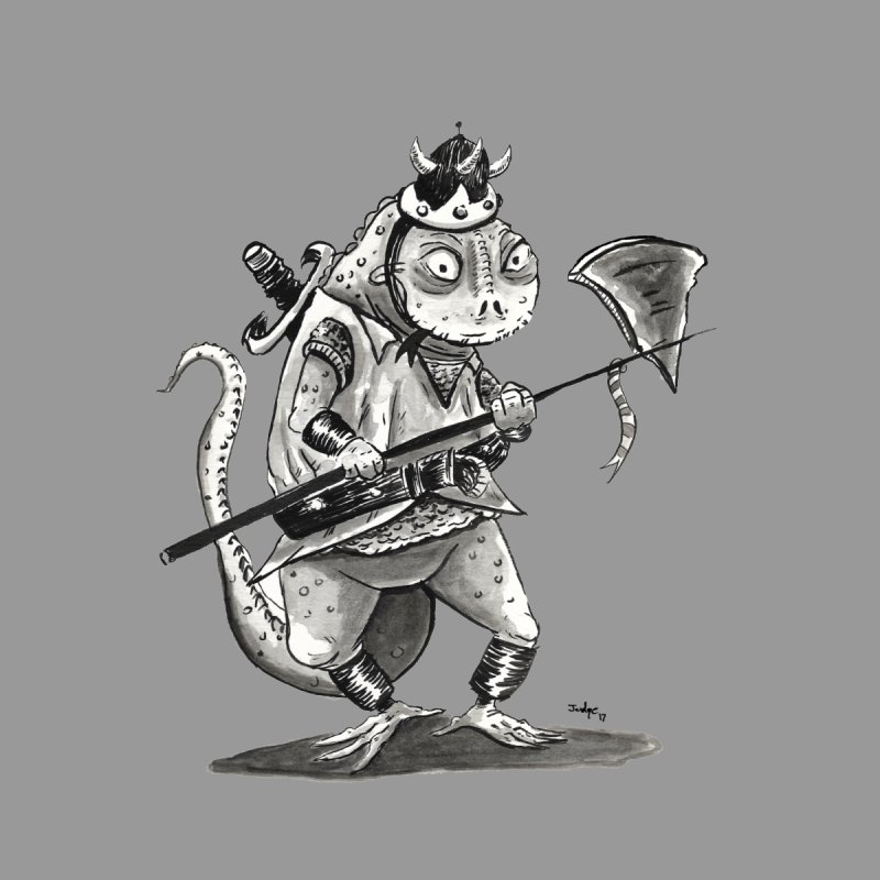 Lizard Warrior Kids T-Shirt by tjjudgeillustration's Artist Shop