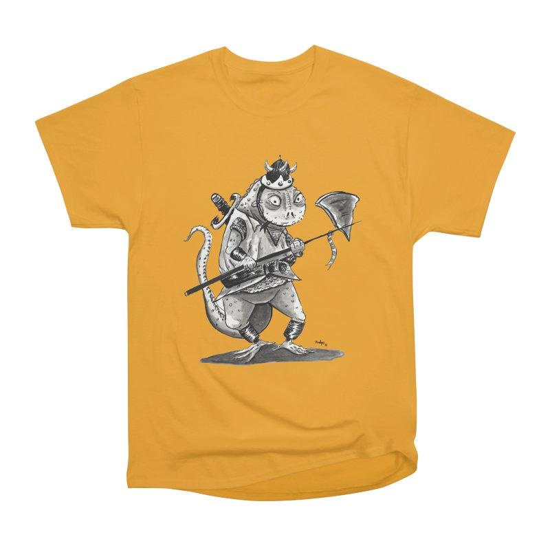 Lizard Warrior Women's Heavyweight Unisex T-Shirt by tjjudgeillustration's Artist Shop