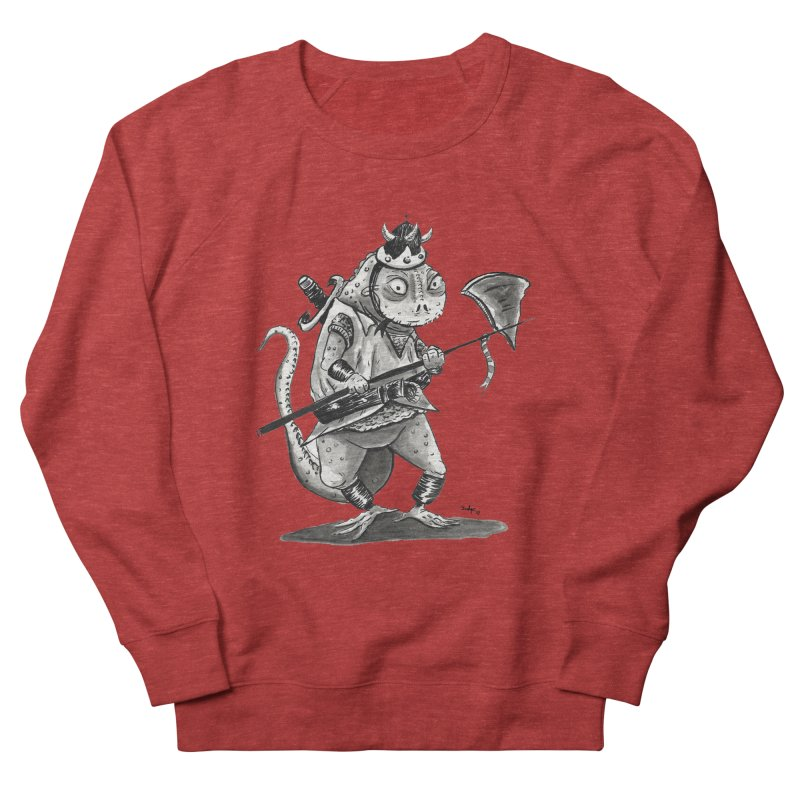 Lizard Warrior Men's Sweatshirt by tjjudgeillustration's Artist Shop