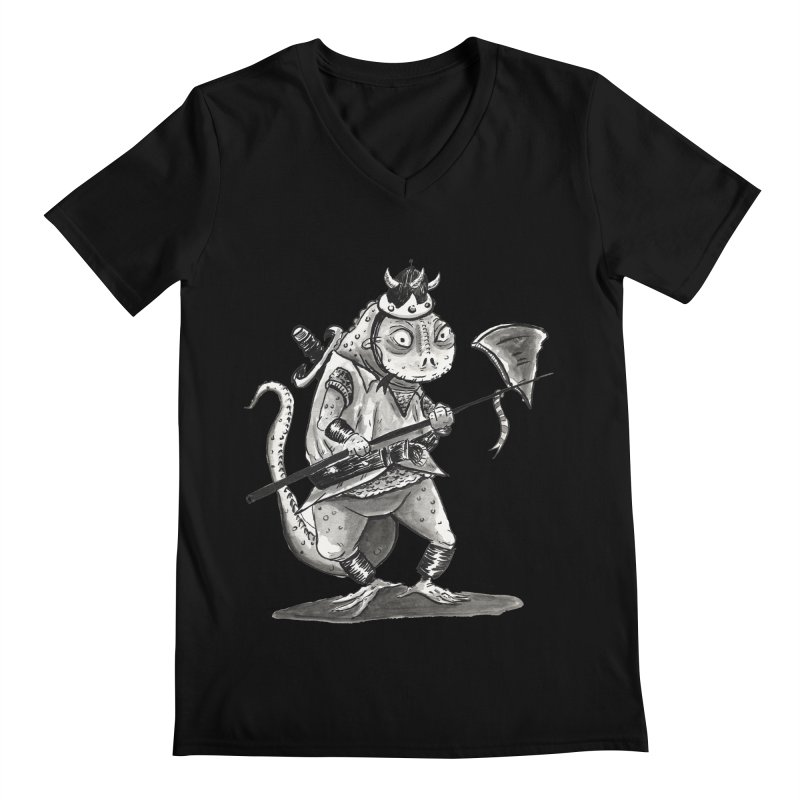 Lizard Warrior Men's V-Neck by tjjudgeillustration's Artist Shop