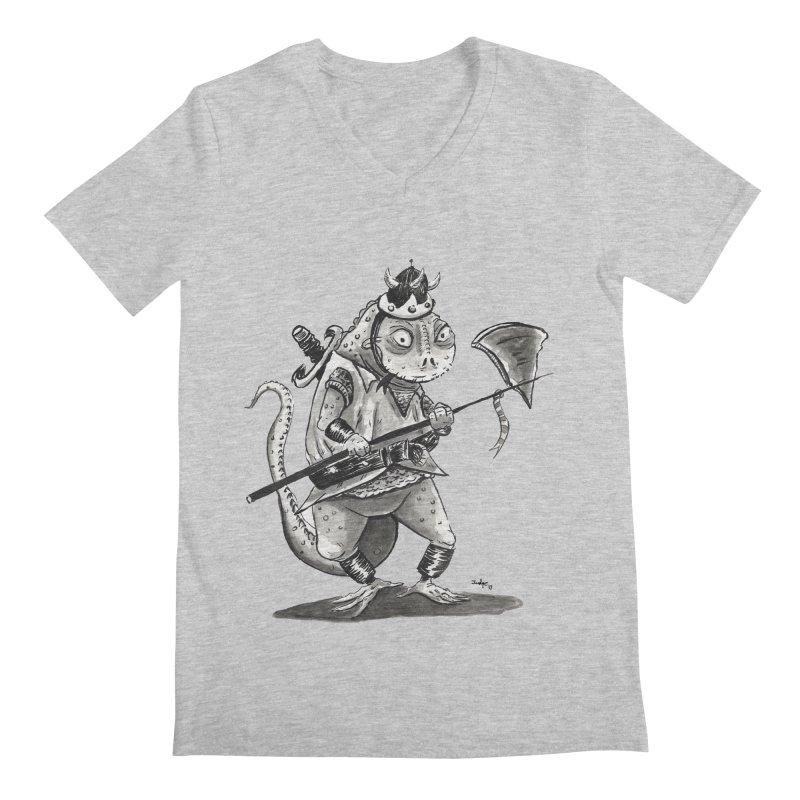 Lizard Warrior Men's V-Neck by tjjudgeillustration's Artist Shop