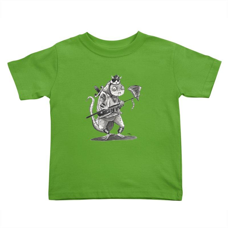 Lizard Warrior Kids Toddler T-Shirt by tjjudgeillustration's Artist Shop