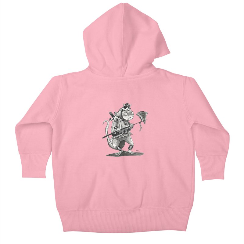 Lizard Warrior Kids Baby Zip-Up Hoody by tjjudgeillustration's Artist Shop