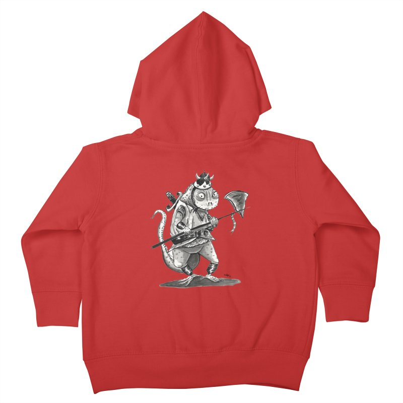 Lizard Warrior Kids Toddler Zip-Up Hoody by tjjudgeillustration's Artist Shop