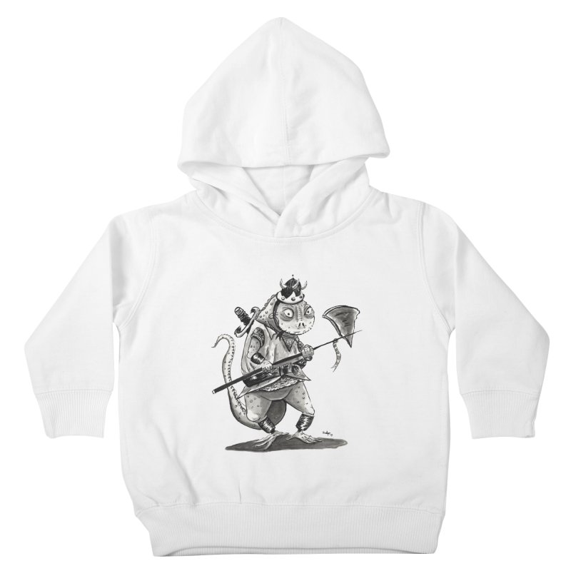 Lizard Warrior Kids Toddler Pullover Hoody by tjjudgeillustration's Artist Shop